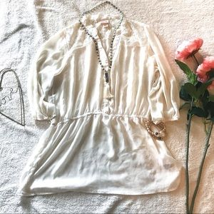Missimo Sheer Off-White Tunic XL